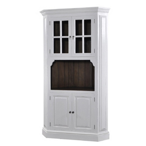 Cape Cod Corner Cabinet - White Light Distressed /ATO