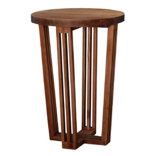 Reuben Tall Side Table  - Beech Wood