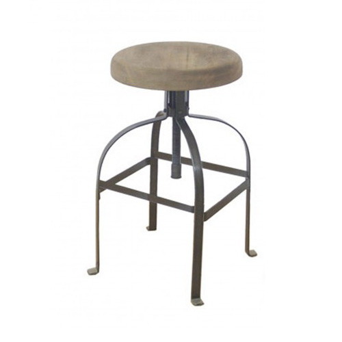Industrial Screw Barstool - Black