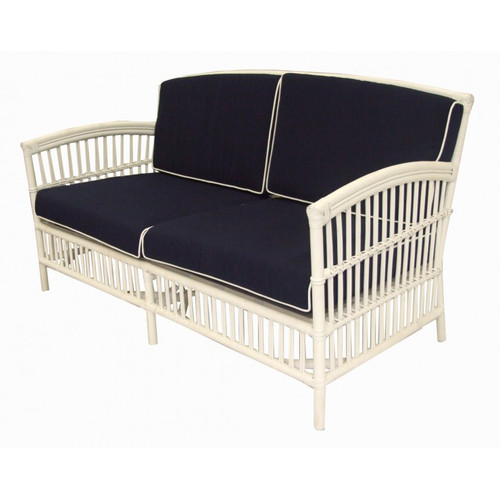 Miami 2.5 Seater Sofa - White/Blue