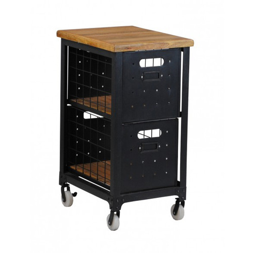 Industrial 2 Drawer File - Black