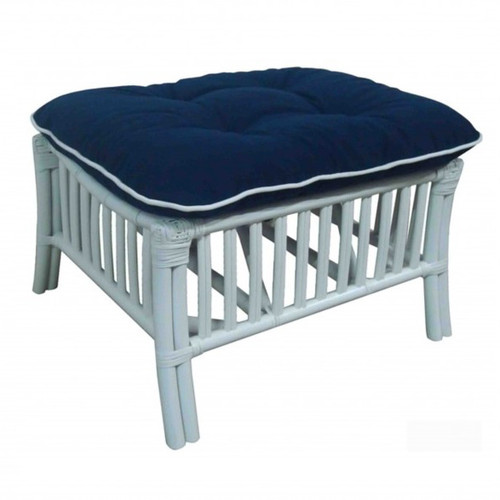 Brighton Footstool - White