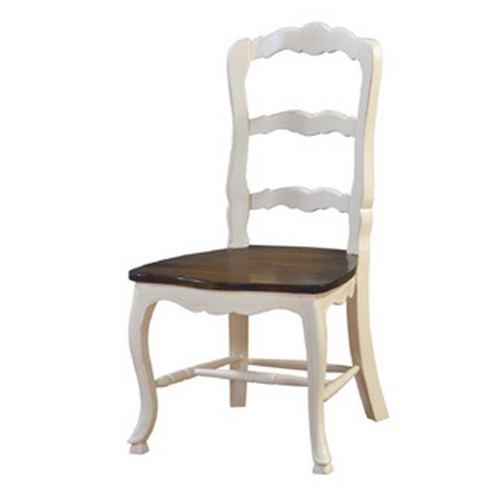 Provincial Dining Chair w/ Wooden Seat - Size: 104H x 55W x 58D (cm)