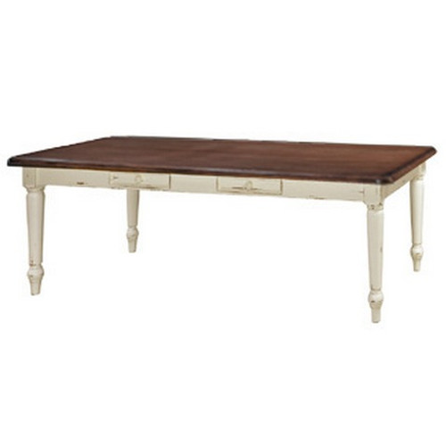 Farmhouse Dining Table 2.4m - White Heavy Distressed /ATO