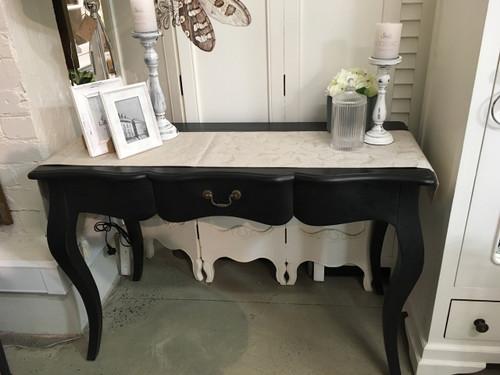 Louis French Desk - Black Size: 80H x 122W x 51D  (cm)