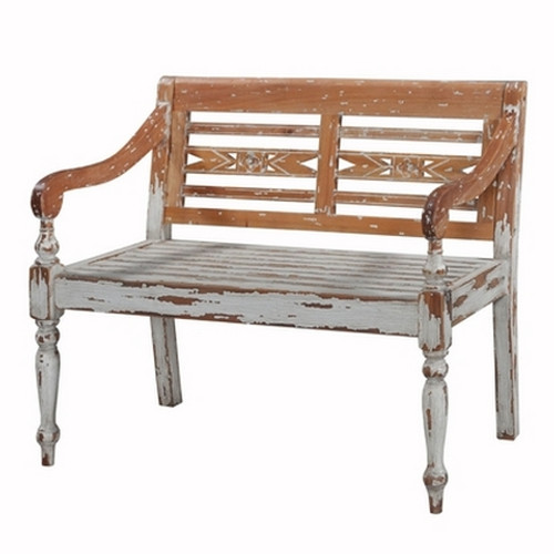 Garden Loveseat - Textured Sea Mist Heavy Distressed /WDT