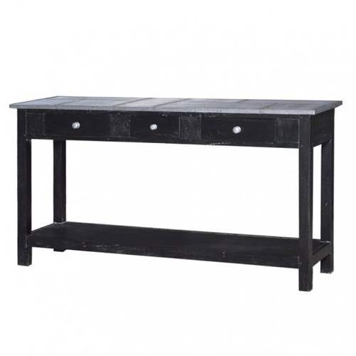 Tinsmith Sofa Table - Rub Black /TAN