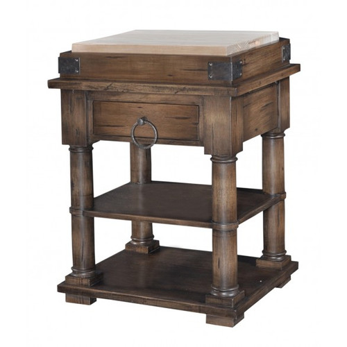 Cortland Kitchen Island on Coasters - Antique Oak /D00