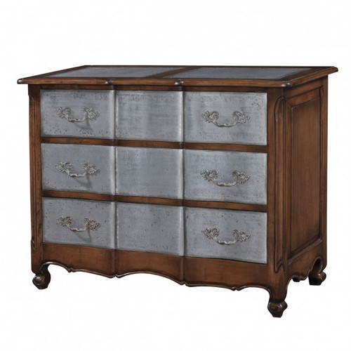 Provence 3 Drawer Dresser Large w/tin drawers - Antique Oak /TAN/D00