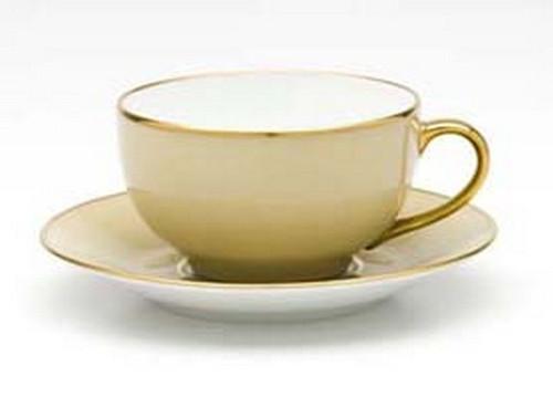 Limoges Legle Breakfast Cup & Saucer - Mink