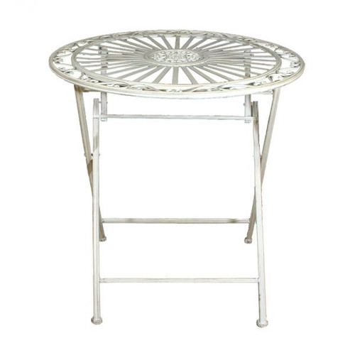 Rene Folding Cafe Table - Antique Cream