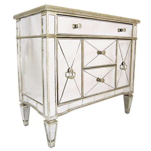 Antique Mirrored Buffet Medium