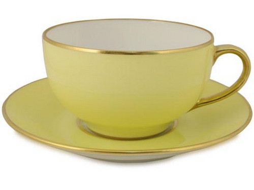 Limoges Legle Breakfast Cup & Saucer - Pastel Yellow
