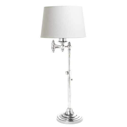 Macleay Swing Arm Desk Lamp - Antique Silver