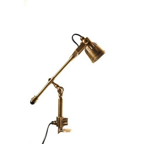 Seattle Clamp Lamp - Antique Brass