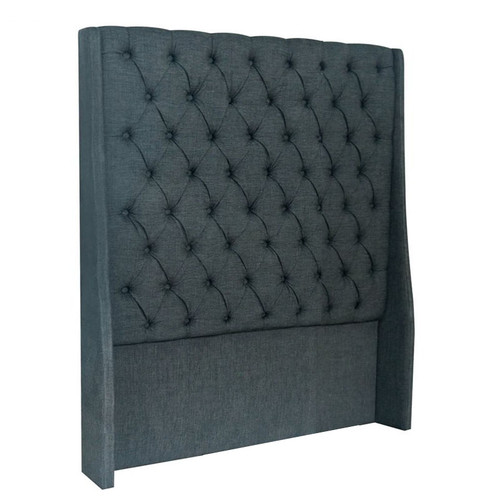 Vienna King Single Headboard - Charcoal