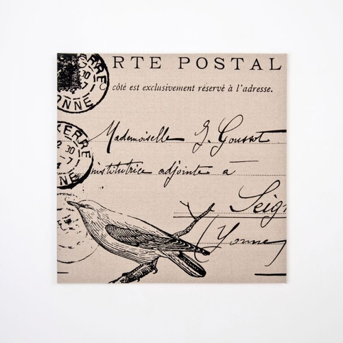Canvas Print: Bird Postal