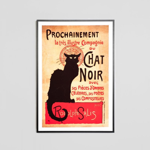 Framed Print: Chat Noir