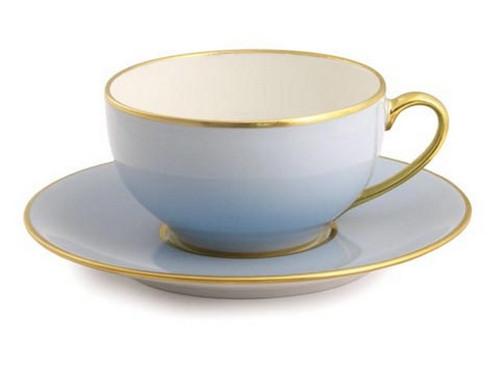 Limoges Legle Tea Cup & Saucer - Ice Blue