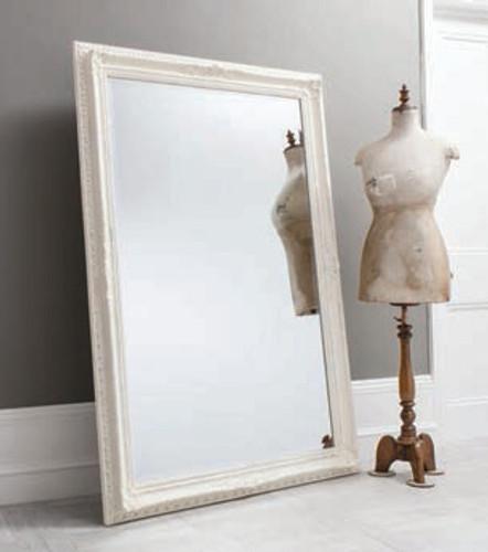 "Buckingham Mirror Vintage White 69x45"""