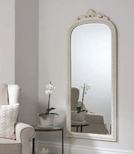 "Eden Mirror Fawn Grey 68x29"""" Gallery Direct"""""