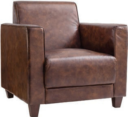 Granada Club Chair Leather 32x32x33.5""
