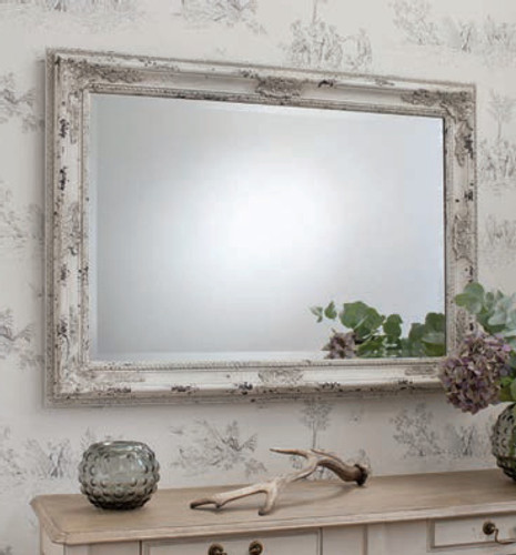 Kingsley Vintage Cream Mirror 43.5x31.5""