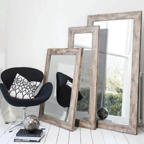 "Stanton Rustic Timber Mirror 44x32"""" Gallery Direct"""""