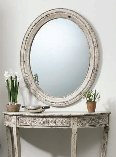 Stoddard Mirror Cream 30.5x36""