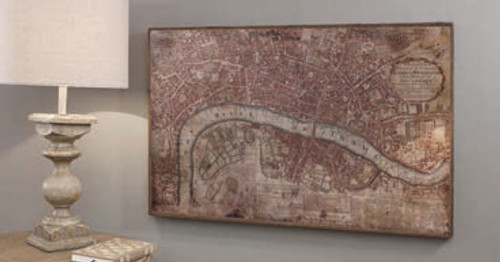"Vintage London Map 36x22"" Gallery Direct"