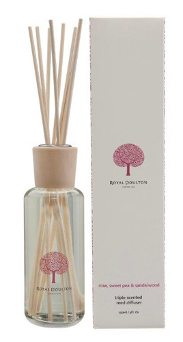 Royal Doulton Fable Mini Reed Diffuser 150mL - Rose, Sweet Pea & Sandalwood
