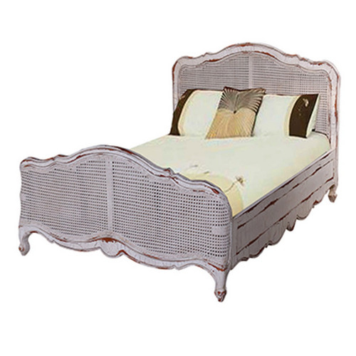 Covington Rattan Single Bed - Size: 109H x 109W x 213D (cm)