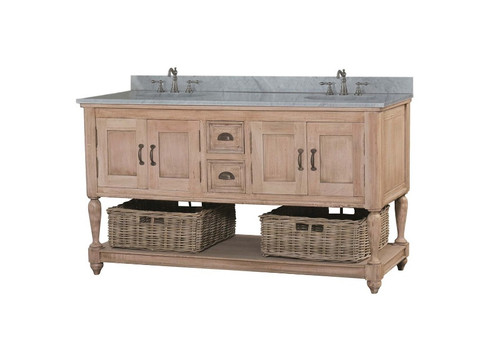 Jefferson Double Vanity - with marble top - LAO