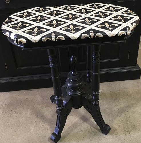 Astragal Wine Table - Black Light Distressed /A63