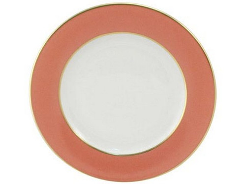 Limoges Legle Side/Cake Plate - Old Rose
