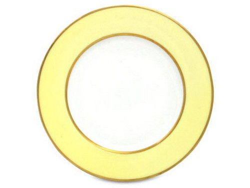 Limoges Legle Side/Cake Plate - Pastel Yellow