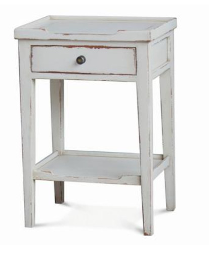Eton Side Table - Pearl White Heavy Distressed