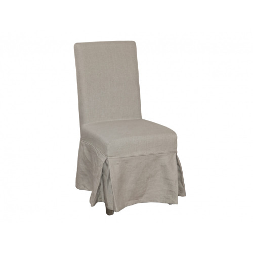 Dining Chair Cover Loose - Natural Linen