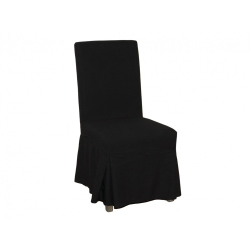 Dining Chair Cover Loose - Black Linen