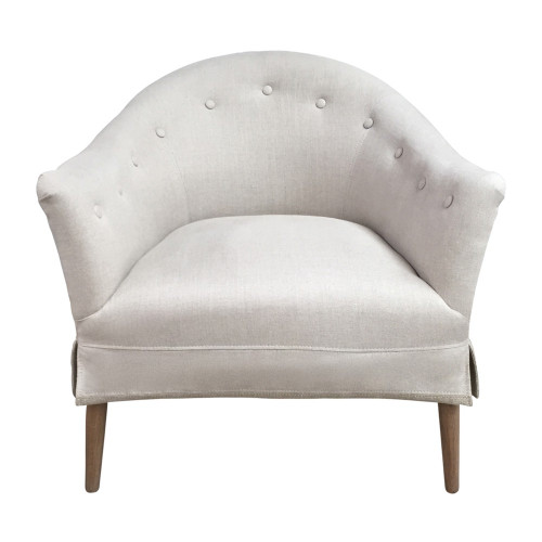Claudette Tub Chair - Natural Linen