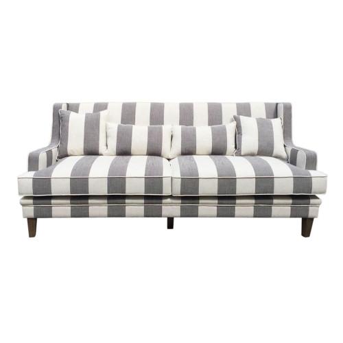 Rohan 3 Seat Sofa - Grey/Cream Stripe