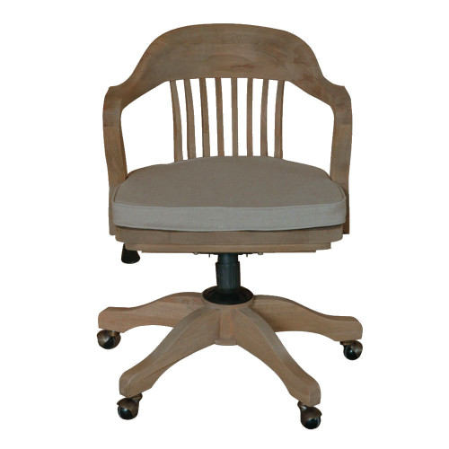 1940's Bankers Office Chair - Weathered Oak