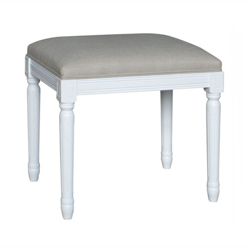 Bordeaux Upholstered Stool - White
