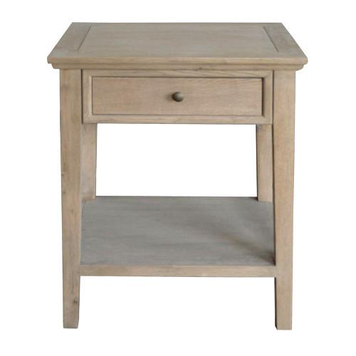 Alton 1 Drawer Bedside - Weathered Oak