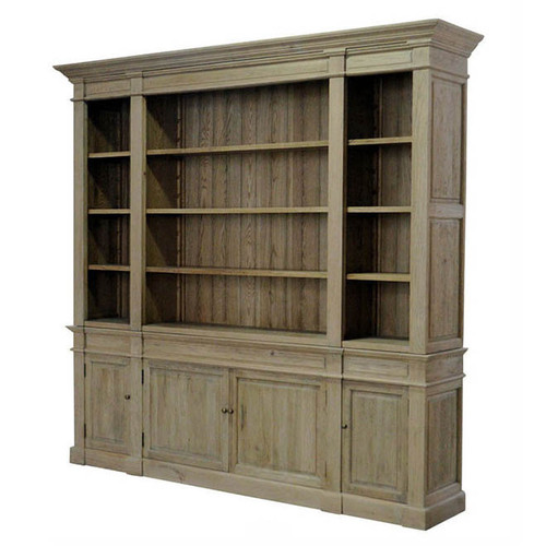 Reims Library Bookcase /TV Media Unit   Natural Oak
