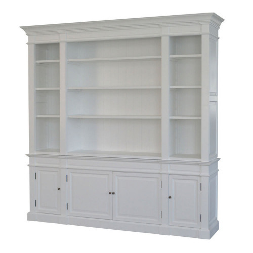 Reims Library Bookcase / TV Media Unit - White