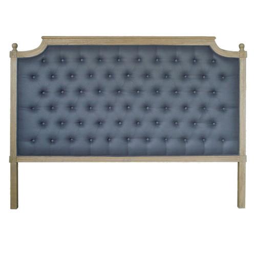 Francesca Tufted King Headboard - Charcoal Linen