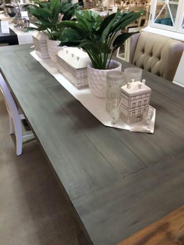 Hamptons X-Base Dining Table 240cm - Smokey Grey