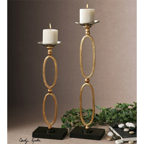 Lauria Candleholders - Set of 2 by Uttermost