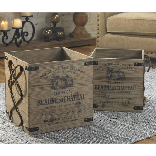Bouchard Crates - Set of 2 by Uttermost